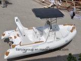 Шлюпка нервюры рыбацкой лодки стеклоткани Liya 5.8m твердая раздувная
