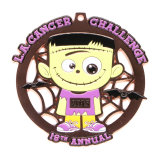 L'été Triathlon logo personnalisé en alliage de zinc médaille pour l'attribution de cadeaux de sport