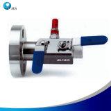 Blocchetto del doppio di Monoflange dello strumento dell'acciaio inossidabile & valvola a sfera del salasso