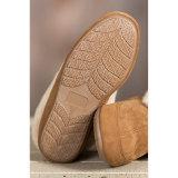 A pele de carneiro do conforto calç as sapatas Home do deslizador para o inverno