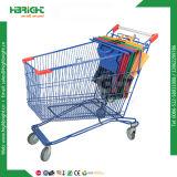 Venda por grosso de falsos tecidos Supermercado Dobra Dobrável reutilizáveis Saco Trolley de carrinho de compras
