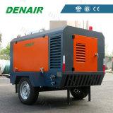Compresor de aire de tornillo móvil diesel utilizado para la minería del gobierno