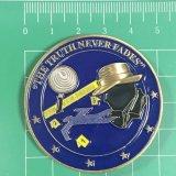 Preiswerte Detective Herausforderungs-Münze des Gold3d mit Aufkleber