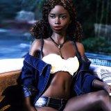 кукла секса девушки негра Африки груди 168cm малая для людей