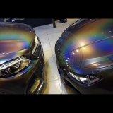 Лазерный сахар голографических порошок Rainbow ногтей Блестящие цветные лаки пыли Chrome пигмента