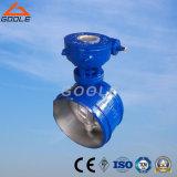Caixa de engrenagem sem fim Soldadas Válvula Borboleta de vedação de metal (GA363H/F)