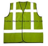 Uve001полиэстер Оксфорд ПВХ/PU Non-Breathable/PU Дышащий слой светоотражающей ткани Майка Worksuit