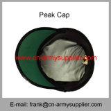 卸し売り安い中国の軍の銀製の警察の陸軍将校のピーク帽子