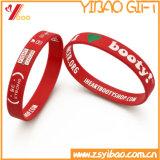 사건 (YB-SM-01)를 위한 주문을 받아서 만들어진 개인화된 인쇄된 로고 실리콘 팔찌
