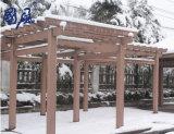 Pergola composé en plastique en bois extérieur de jardin