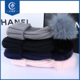 Custom зимой обычный кабель трикотажные 100% полиакрил теплый Beanie Red Hat