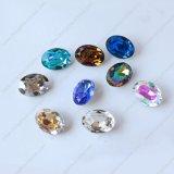 Ovaler schwarzer Diamant nähen auf fantastischem Stein für Kleid