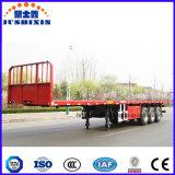 3つの車軸容器シャーシか半容器の平面トラックのトレーラー