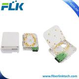 Da fibra fixada na parede da tomada FTTH do painel do soquete caixa terminal ótica