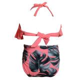 Ferien-heißer Sprung-Badebekleidung druckte hohen Beachwear des Flounced Rüsche-Kind-Badeanzug-Mädchens Taille