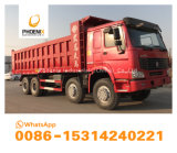 Vrachtwagens van de Stortplaats HOWO van de lage Prijs de Uitstekende Voorwaarde Gebruikte de Kipper van 375 PK 8X4 voor Afrika