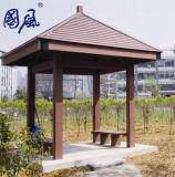 Le bois composite en plastique WPC Quad pavillon pour une utilisation en extérieur