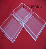 Plato de Petri claro cuadrado modificado para requisitos particulares del cuarzo de la pureza elevada con la tapa