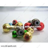 Branelli rotondi d'ottone per la legatura della mosca - Barbell d'ottone con gli occhi 08A-001