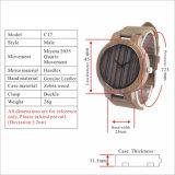 Comercio al por mayor de cuarzo de Japón de 2018 nuevo estilo reloj de madera