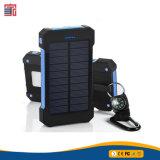 Erfinderische wasserdichte Lithium-Ionenautobatterie iPhone 10000mAh Solaraufladeeinheit, beweglicher mobiler Handy multi USB 2USB schließt Energien-Bank-Solaraufladeeinheit an den Port an