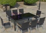 Im Freiengarten-bequemer Freizeit PET Rattan-Tisch und Stuhl