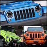 Ce высокого ближнего света кри Angel глаза DRL оптовой автомобильной 7дюйм Круглые светодиодные фары для Jeep