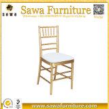 製造業者のクッションが付いている卸し売り普及したTiffanyの結婚式のChiavariの椅子