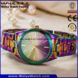 Logotipo personalizado mujer reloj de cuarzo Relojes de Pulsera de moda para señoras (WY-17003D)