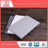 Revestimiento de polvo de aluminio de alta resistencia Anti-Seismic el revestimiento de paneles de pared para revestimiento de techo// Soffit de techo