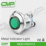 Indicador del metal LED rojo claro, verde, amarillo, azul, blanco