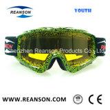 La taille de la jeunesse Hot Anti-Fog Double personnalisé de vente de lentilles de lunettes de ski
