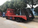Venta directa de fábrica de 7 toneladas de transporte de la cosechadora de camión de plataforma baja camión de transporte de maquinaria