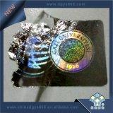 Gemakkelijke Beschadigde Materiële het Etiket van het Hologram van het Gebruik van de Tijd
