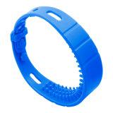 Faixas de pulso impermeáveis do silicone da alta freqüência RFID para a palavra do mar