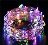 16 футов 50 LED волшебная звездная String фонари 3 строка с питанием от батареи типа AA фонари