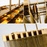 현대 호화스러운 알루미늄 사슬 술 건 하락 또는 현탁액 빛