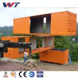 2017 дома контейнера для перевозок самой последней конструкции роскошные Prefab для сбывания