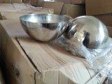 """Bola de acero inoxidable 304 de la mitad de bolas de acero hueco de 36"""" de media esfera, con el casquillo de metal o de espejo pulido"""