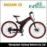 2018 26 Zoll-Gummireifen-elektrisches Fahrrad mit schwarzem Mag-Rad