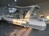 Liya 17 van Hypalon/PVC van de Sport van de Stijve Opblaasbare Voet Boot van de Rib met Buitenboordmotor