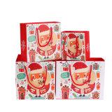 Kundenspezifischer Papierpappweihnachtsgeschenk-Beutel für Förderung, Reklameanzeige Beutel