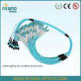 Mini-Cable redondo de MPO-LC 12fo 3.0m m LSZH para los centros de los datos