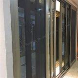 Porte coulissante en verre en aluminium à extrémité élevé de Champagne double