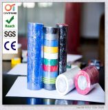 Gomma ignifuga di colore nero lucido eccellente più nastro elettrico del PVC dell'adesivo di Stickness