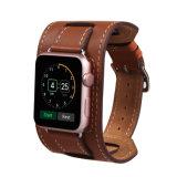 Band van het Horloge van de Vervanging van het Leer van het Manchet van de premie de Uitstekende Echte met de Roestvrije Greep van het Metaal voor Al Uitgave van de Sport van het Horloge van de Appel