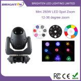 Iluminar Mini zoom de 250W FOCO LED de iluminación de cabezas móviles