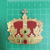 磁石(XD-B5221)が付いている卸し売り金属の記念品のダイヤモンドの王冠のバッジ