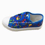 Calzature casuali magiche della scarpa da tennis dei pattini di tela di canapa del nastro dei bambini (ZL1216-1)
