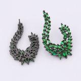 Grüne Kubikzirconia-Partei-Ohrring-Schmucksachen im schwarzen Gold überzogen